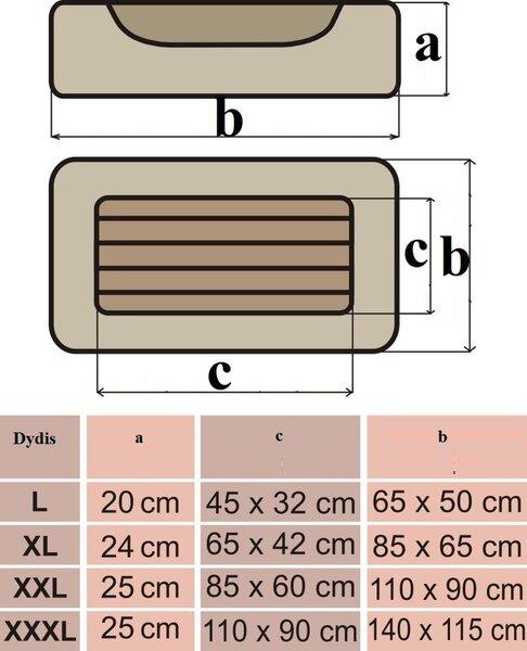 XL nariu matmenys Vaizdo purkstukai, skirti padidinti nari