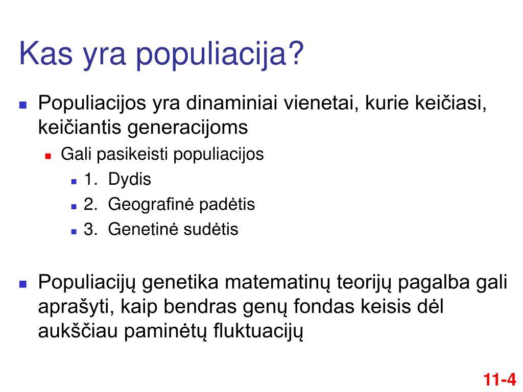 Genetinio nario dydis